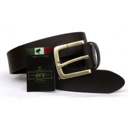 Cintura Uomo AVIREX vero cuoio Dark Brown 130cm Made in Italy 6022
