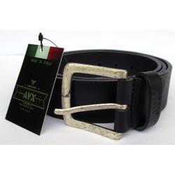 Cintura UOMO AVIREX vero cuoio Black 115cm Made in Italy 6021