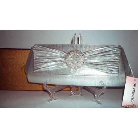 Pochette - Borsetta donna GP Prestige elegante color argento moda italiana. Per Matrimoni, Cerimonie, Eventi