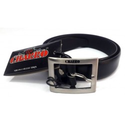 Cintura Uomo Charro Split Cowhide Nero semilucido 100cm Made in Italy 901