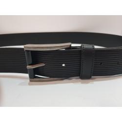 Cintura Uomo Free Joy in cuoio nera 120cm con fibbia in metallo