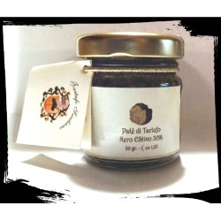 Black Summer Truffle Paté 30% with Sicilian almonds - 30gr
