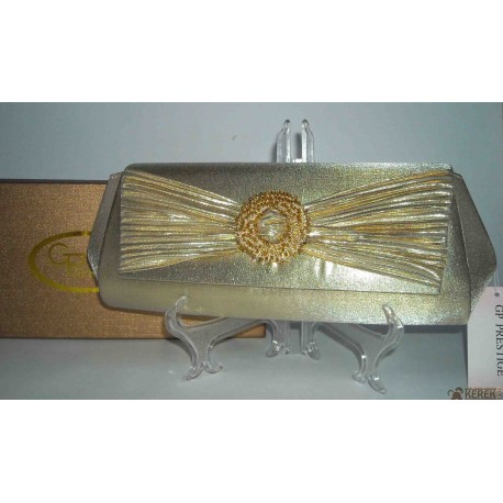 Pochette - Borsetta donna GP Prestige elegante color GOLD moda italiana. Per Matrimoni, Cerimonie, Eventi