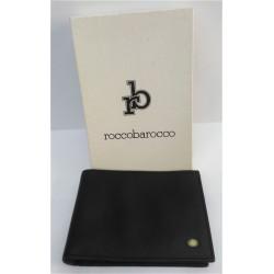 Portadocumenti Rocco Barocco uomo in pelle nera / carte di credito