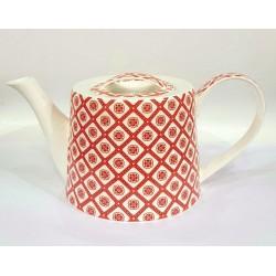 Teiera Jameson Tailor Fiori Rossa e bianca ...stile e unicità nella tua cucina