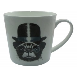 Tazza Jameson & Tailor Coppa 0,45L brillante cane di porcellana con il cappello e Monocle