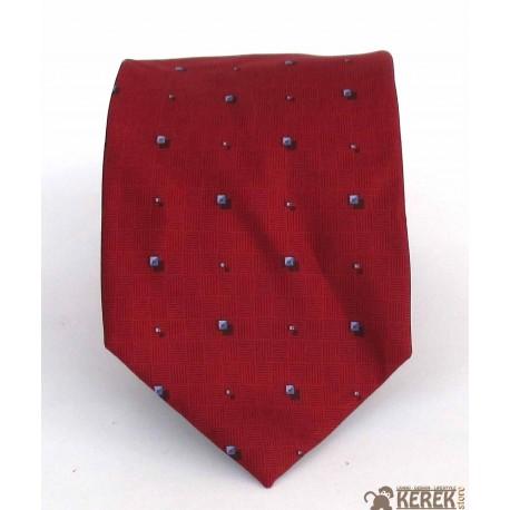Cravatta uomo in seta rosso (red) a pois piccoli neri (black) - Le Cravatte