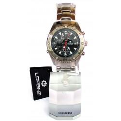 Orologio da polso Uomo Lorenz Pilot Evolution 026661AA Silver Sport
