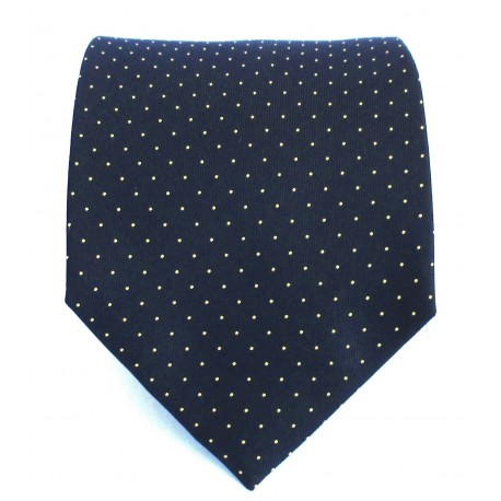 Cravatta uomo in seta blu-viola e piccoli rombi oro - Enrico Corti