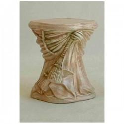 COLONNA CON FIOCCO in polvere di marmo ricomposta