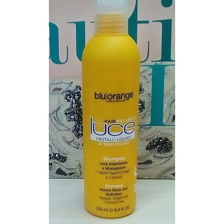 Hair Wellness Luce Blu Orange Shampoo ai semi di lino 250ml OVP