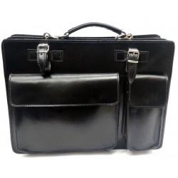 Borsa lavoro nero con portambrello, tracolla, 2 scomparti interni, tasche esterne Business Bag