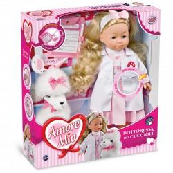 Bambola Dottoressa dei Cuccioli Amore Mio con stetoscopio