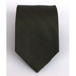 Cravatta uomo in seta verde rigato - Enrico Corti