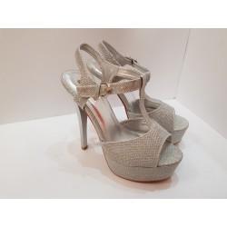Scarpa elegante Donna argento Jumex con il tacco suola antiscivolo