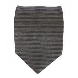 Cravatta uomo grigio scuro a righe orizzontali in contrasto su stessa tonalità - EFFETTOSETA