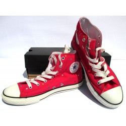Scarpe Converse CHUCK Taylor ALL STAR 38, rosse cuori - Shoes Sneakers red donna