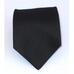 Cravatta uomo in seta nero tinta unita - Biagiotti uomo