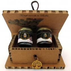 Капли Черный летний трюфель + миндальный мед Сицилия Белый трюфель - Подарочная коробка Древо жизни