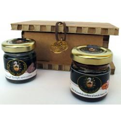 Gocce Tartufo nero estivo + miele mandorla Sicilia Tartufo Bianco - Confezione Regalo albero della vita