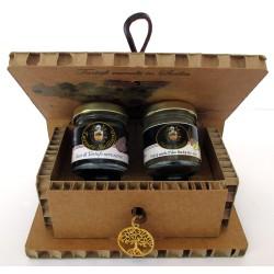 Капли черного летнего трюфеля + инжир в клубне борчий - подарочная коробка древа жизни