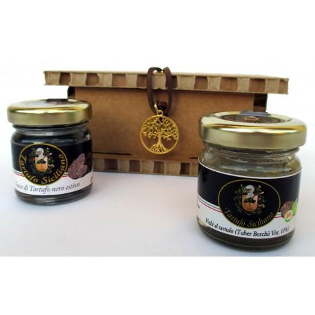 Gocce Tartufo nero estivo + Fichi al Tuber Borchii - Confezione Regalo albero della vita