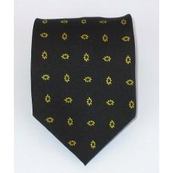 Cravatta uomo nero con disegni fiori oro - EFFETTOSETA