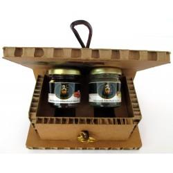Сицилийский миндальный мед с белым трюфелем + инжир трюфеля - Подарочная коробка Древо жизни