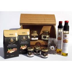 GIFT DELUXE (10) - миндаль, сливки, масло, шоколад, мед, инжир, черно-белый трюфель