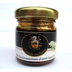 Acacia Honey flavored with White Truffle 30gr (Tuber borchii Vitt. 3%) - 1,23 OZ.