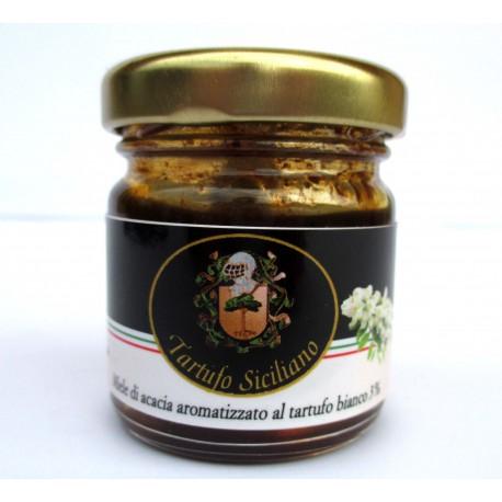 Miele di Acacia aromatizzato al Tartufo Bianco (Tuber borchii Vitt. 3%) 35gr - 1,23 OZ.