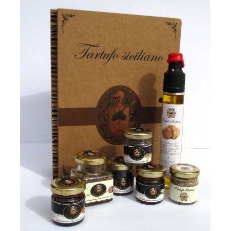 BIG GIFT (7) - Patè + Miele + Gocce + Fichi al Tartufo bianco e nero Confezione Regalo albero della vita