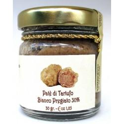 Patè Tartufo Bianco pregiato (30% Tuber magnatum pico) con pinoli prima scelta 30gr