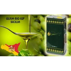 5LT Olio Extravergine di Oliva BIOLOGICO SICILIA, fruttato, Latta 5 litri ITALIA