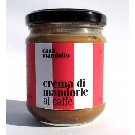 Crema di mandorle al caffè biologica 190 gr con zucchero di canna - energia e gusto