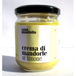 CREMA DI MANDORLE AL LIMONE BIO artigianale 190g snack energia - SICILIA GOURMET