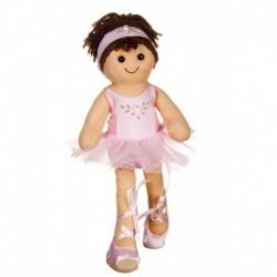 Bambola di pezza My Doll Piccola Ballerina Rosa 32 cm - cod. DG008