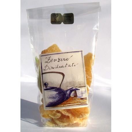 100 GR  Zenzero disdratato a fette con cristalli di zucchero - SICILIA GOURMET