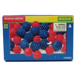 Rokenbok System - 100 pieces Balls (50 large blue and 50 small red balls) 04890