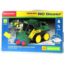 ROKENBOK System Wireless RC DOZER 04271, vertical blade pushes balls uo ramps DRIVE