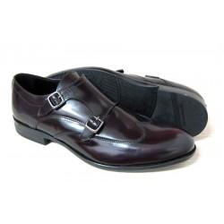 Man shoe Ugo Turati bordò in leather 17204 abrasivato leather bottom 1/2 seedling (anti-slip)
