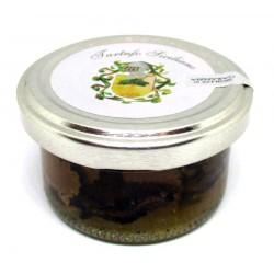 Carpaccio a fette di Tartufo Nero Estivo Siciliano, 25g, in salamoia naturale Gourmet (Tuber aestivum Vitt)