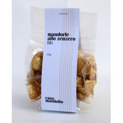 100g Toasted Organic Almonds with Ginger 100g - SICILY Bio Gourmet