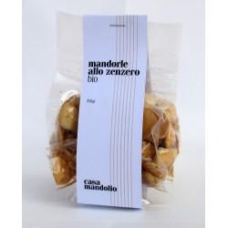 Mandorle biologiche tostate allo Zenzero 100g - SICILIA Bio Gourmet