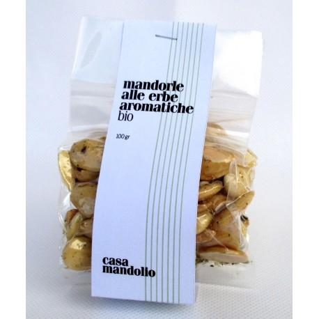 Mandorle biologiche tostate alle Erbe Aromatiche 100g - SICILIA Bio Gourmet