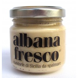 Fresh Albana: 80gr NOT CHEESE! Sicilian almonds spread, organic and 100% vegan