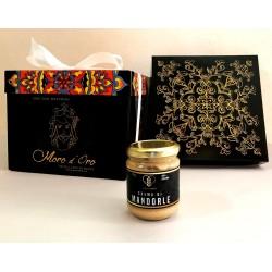 Panettone artigianale Siciliano con vasetto crema di mandorle, lievitazione lenta Eccellenza Gourmet Sicily
