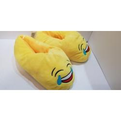 Papuche unisex idee Regalo per San Valentino gialle in velluto con suola plastificata e antiscivolo