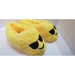 Papuche Unisex con emoticon idee Regalo per San Valentino gialle in velluto e suola plastificata e antiscivolo