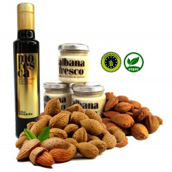 Bitter almonds in shell 2kg + Sicilian almond cream 80g x3 + EVO Moresca olive oil 250ml PGI x1